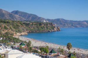 Playa de Burriana de Nerja,