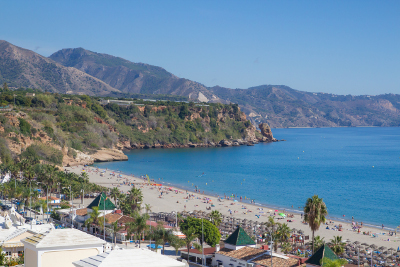 Playa de Burriana de Nerja,
